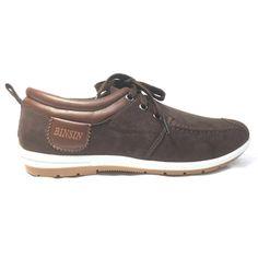 BINSIN รองเท้าผ้าใบแฟชั่นรุ่น BS509 (Dark Brown)   Lazada.co.th