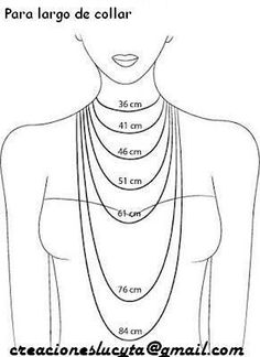 DIY Jewelry Legendary Beads: Anchor Bracelet, various other tutorials Necklaces length. Good to know!- Great for helping DIY jewelry making.- Jewelry Making Do It Yourself Jewelry, Bijoux Diy, Necklace Lengths, Necklace Length Chart, Necklace Sizes, Necklace Chain, Necklace Guide, Initial Necklace, Bracelets