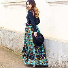 Muito amor por essa saia!  Não sou muito fã de saias longas mas me apaixonei completamente