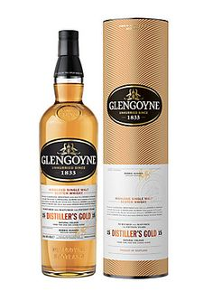 Glengoyne 15 Year Old Distiller's Gold Highland Single Malt Whisky Balanced to perfection, sweetness gives way to a finish of cinnamon and oak. The secret is distilling slower than anyone in Scotland, and of barley we dry by air, never peat. Finally, sherry casks are hand selected to create this truly rounded single malt Scotch Whisky.