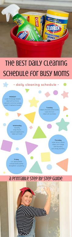 Who in the WORLD has time to clean the house each week? This daily cleaning schedule will help you keep your house in order, and change your life!