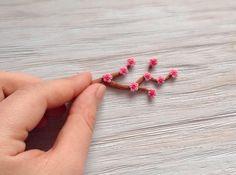 А вот мои цветочки уже на ветке.   #color #cute #polymerclay #handmade #aprilcat #kharkiv #рабочийпроцесс #цвет #хендмейд #полимернаяглина #ручнаяработа #дети #kids #child #ukraine #впроцессе #цветы #нежность #flowers #miniature #миниатюра