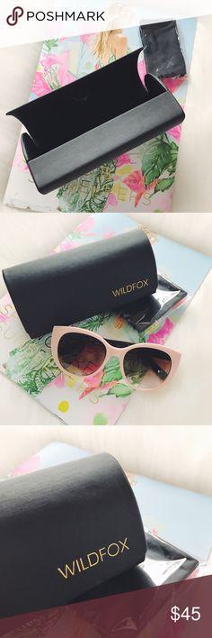 🌴S A L E🌴Wildfox Hard Sunglasses Case Wildfox Hard Sunglasses Case with cleaning cloth, both brand new. Sunglasses in picture are also for sale, they are Isaac Mizrahi.                            🐣n o • t r a d e s🐣                    s m o k e • f r e e • h o m e             s a m e/n e x t • d a y • s h i p p i n g Wildfox Accessories