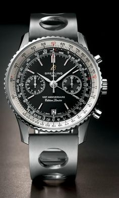 75a4b178503 The new Breitling Navitimer Anniversary automatic chronograph watch  successfully mixes the brand s signature bold styling with the legendary  slide-rule