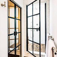 Hex Shower Tiles, Contemporary, Bathroom, SVZ Interior Design