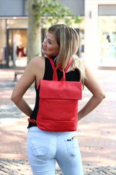 Red Backpack from Prato.