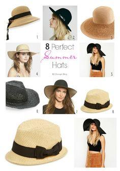 8 Perfect Summer Hats