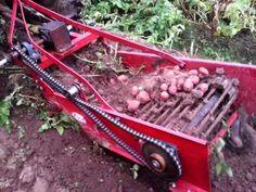Potato harvester - YouTube