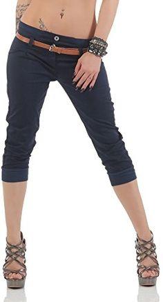 Da Donna Alto Taglio CULOTTE da Donna Hot Pants Jeans Shorts Pantaloni corti Capri Blu