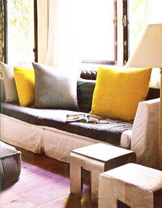 giant yellow pillows