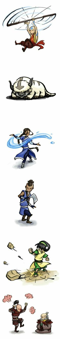 That last one with Zuko, HAHAHAHA. well it does count as fire.  And credits to whoever drew this, you're a genius!