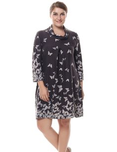 Chicwe Women's Cowl Neck Cashmere Touch Plus Size Dress *** Awesome product. Click the image : Women clothing