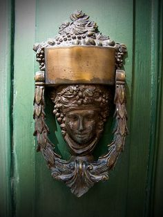 peaceful                                Fabulous Antique Ornate Door Knocker