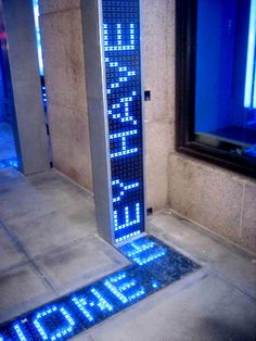 Today's Inspiration: The House That FUSE Built- LED Displays from Sidewalks To Unique Channel Letters Stand Design, Display Design, Booth Design, Display Ideas, Environmental Graphic Design, Environmental Graphics, Wayfinding Signage, Signage Design, Banner Design