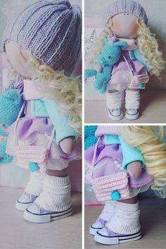 Tilda doll Handmade doll Fabric doll blonde by AnnKirillartPlace