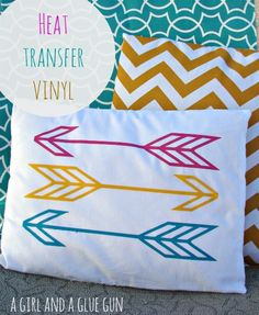 heat transfer and some cute pillows!!! -