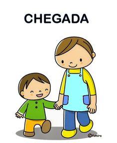 Cartão Rotina da chegada - 41 Cartazes de Rotina para Educação Infantil
