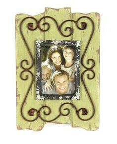 Rust Green Metal Scroll Photo Frame   Walk By Faith Collection #homedecor