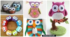 Crochet Owl Toys, Ornaments, Baby Gifts, Home Decor, Owl Pillows and More