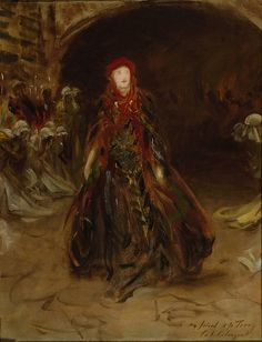 """John Singer Sargent (American, 1856–1925). Ellen Terry as Lady Macbeth, 1889. Smallhythe, the Ellen Terry Collection – National Trust. 