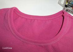 T-Shirt mit Einfassstreifen und Smokärmeln - Anleitung WIP