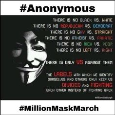 Community Post: Million Masked March   I wrote this.....please pin!
