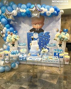Boss Birthday, Baby Boy 1st Birthday Party, 1st Birthday Themes, Baby Birthday Cakes, Baby Party, First Birthday Parties, First Birthdays, Christening Invitations Boy, Baby Shower Decorations For Boys