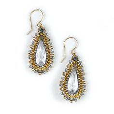 Designer Miguel Ases Crystal Dangle Earrings Miguel Ases. $150.00