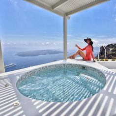 Santorini ... Living your dreams is the best feeling in the world . #greece #santorini #luxury #luxuryhotel