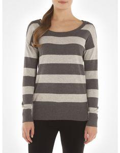 Chandail rayé à manches longues / Striped long sleeve sweater www.jacob.ca
