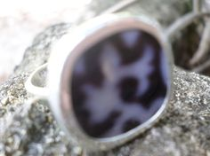 Broken China Ring Chaney Sterling Silver Black Abstract Any Size Old China by MaroonedJewelry on Etsy