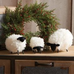 -Beautifully crafted from wool with wood peg legs-Dimensions: Large: 6 Wide x 5