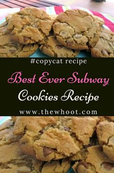 Subway Cookies Recipe The Best Ever Copycat Version Video Tutorial