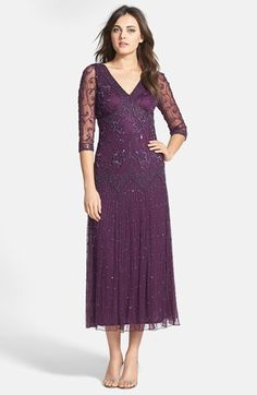 Pisarro Nights Beaded Mesh Dress (Regular & Petite) available at #Nordstrom mother of the bride dress