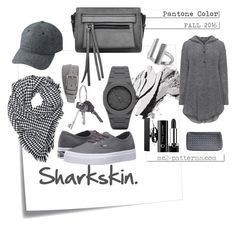 Sharkskin. Fall. Details.  By mc2-patterns on Polyvore featuring GRIZAS, Vans, Melie Bianco, Allurez, CC, Burberry, Givenchy, Uniqlo, Sephora Collection and Bobbi Brown Cosmetics