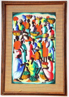 Stunning Very Colorful Haitian Hand Painted by StraightFromOregon, $99.99