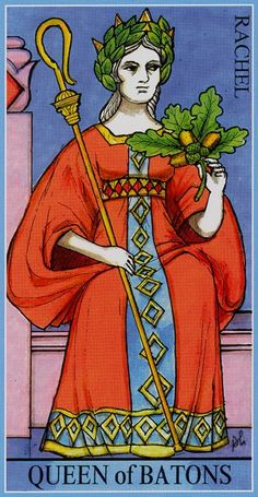 Queen of Wands - Dame Fortune's Wheel Tarot by Paul Huson.