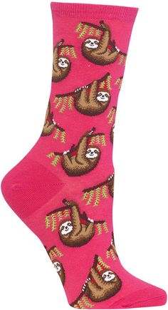 Hot Sox Women's Sloth Socks Smart Women Never Go for Boring Socks, Do You? They say that socks o Sloth Socks, Dog Socks, Funky Socks, Crazy Socks, Pull Court, Sexy Socks, Unicorn Outfit, Fashion Socks, Lounge