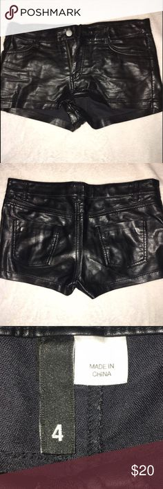 Leather shorts! Fit true to size! Great condition! Shorts