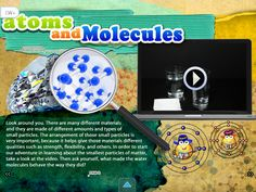 """""""Atoms, Molecules and Ions"""" - one of several highly interactive ebook apps available in the Apple App Store or Google Play App Store for chemistry class."""