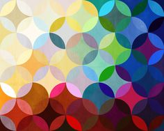 Colorful rainbow inspired circle art by Steven Womack