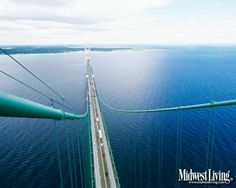 The mighty Mackinac Bridge! One of 44 new desktop pictures featuring Midwest LIving photos of Michigan.