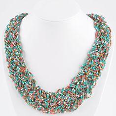 6 couleurs, Vintage tressé collier de perles, Mode femmes bijoux Twisted collier ras du cou, Bohême collier ras du cou dans Colliers de chaînes de Bijoux sur AliExpress.com | Alibaba Group