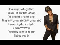 That's What I Like - Bruno Mars (Lyrics) - YouTube Music Songs, My Music, Bruno Mars Lyrics, Come & Get It, Atlantic Records, Say You, Talk To Me, Karaoke