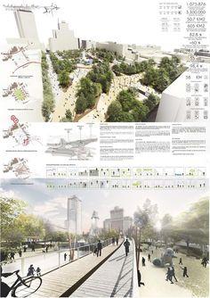 Estas son las propuestas que compiten para remodelar la Plaza España en Madrid,Redibujando la plaza . Image © Difusión Ayuntamiento de Madrid