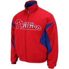 Philadelphia Phillies Majestic Youth Youth Therma Base Triple Peak Premier Jacket Therma Base Triple Peak Premier Full Zip Jacket - $37.99