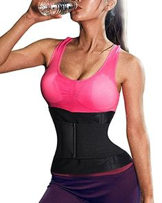 Gotoly Hot Sweat Slimming Waist Trainer Plus Size Body Shaper Smooth Muffin Top XXLarge BlackKeep Warm Strap  *** Read more reviews of the product by visiting the link on the image.