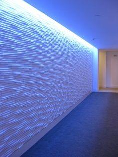 indirect light along wall