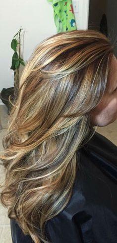 Carmel highlights  Hair by Amy