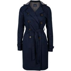 GRYPHON Hooded Timeless Trench Coat ($220) ❤ liked on Polyvore